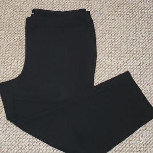 Plus size pull on black dress pant